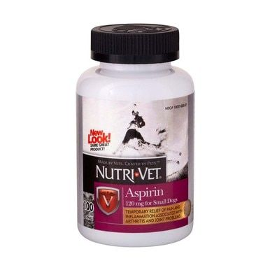 Nutri-Vet K9 Aspirin Pain Relief Liver Chewables Tablets for Small Dogs 100ct