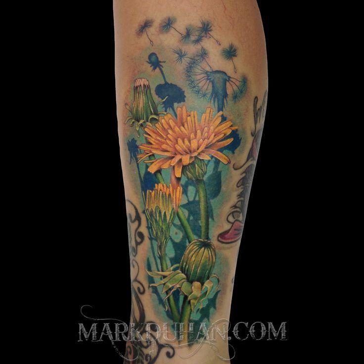 yellow dandelion tattoo designs - Google Search