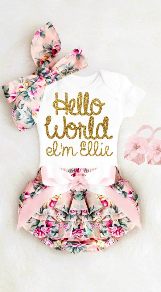 5863eca37c9b Baby Girl Coming Home Outfit Newborn Girl Take Home Outfit Personalized  Baby Girl Clothes Winter Boho Baby Clothes