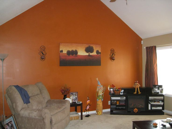 17 Best ideas about Orange Accent Walls – Orange Living Room Walls