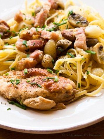 Une fricassée de poulet grand-mère, Une recette simple et (assez) rapide pour un plat que vous prendrez plaisir à savourer en famille un dimanche midi.