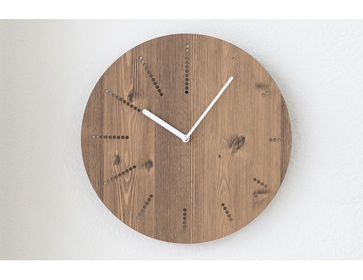 12 inch natural wall clock brief style wooden clock wooden decor large round unique clock rustic home decor silent wall clock