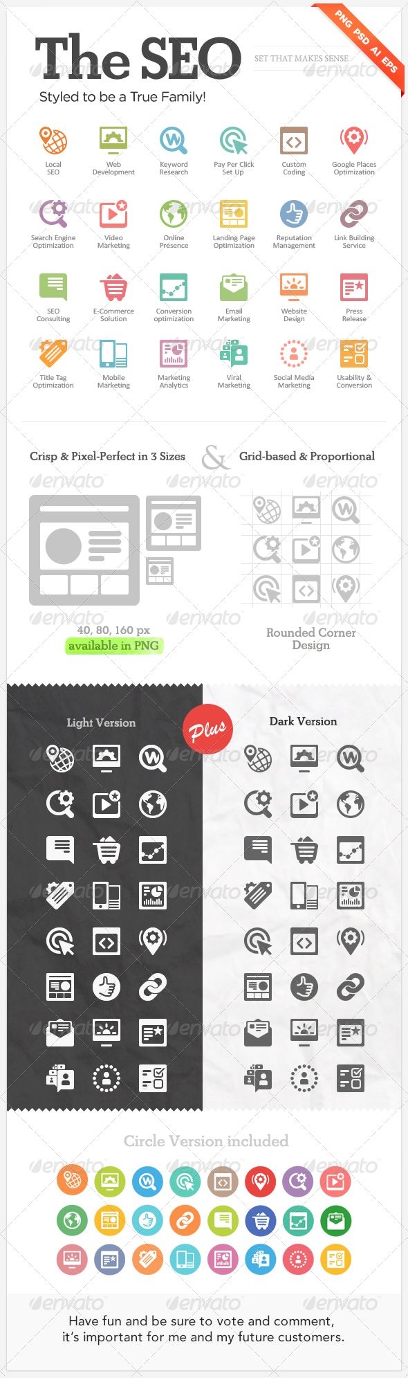 "Seo icons for web design ""The SEO"" - $7"