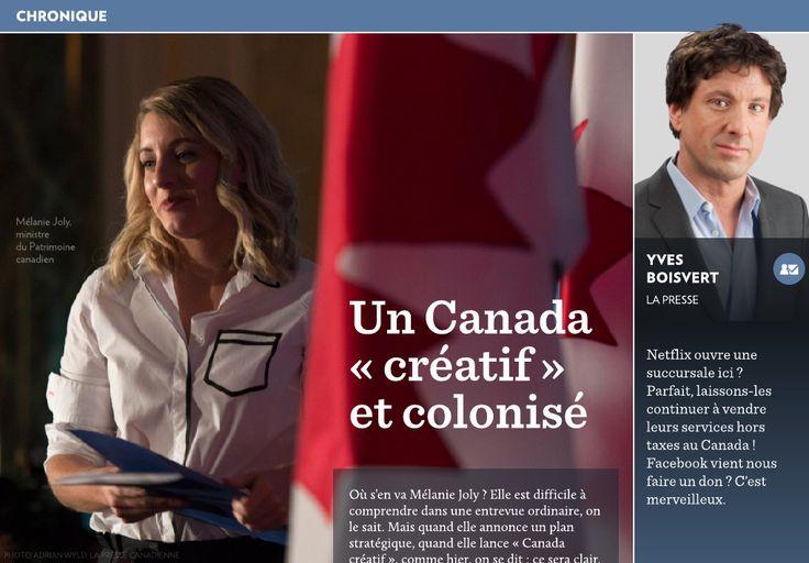 Un Canada «créatif» et colonisé - La Presse+