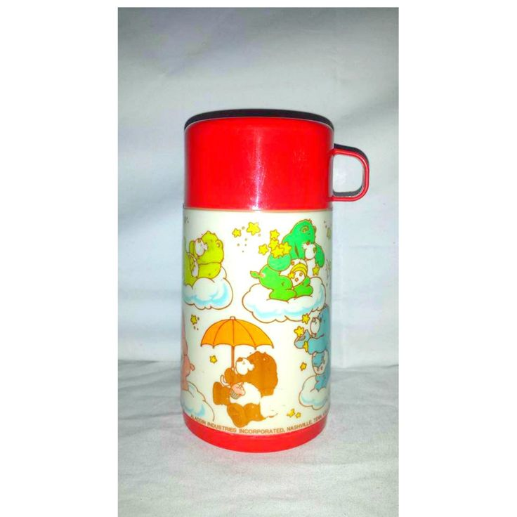 Vintage Red Care Bear Aladdin Thermos, 1985, Care Bears, Vintage Care Bears, Insulated Hot Cold Thermos, Vintage Kids Thermos by JunkYardBlonde on Etsy