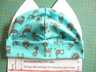 Tutorial Freebie Jerseymütze Bettina (Farbenmix)