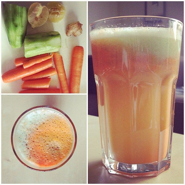 Carrot-Ginger-Lemon-Cucumber juice This juice doesn't only taste ...