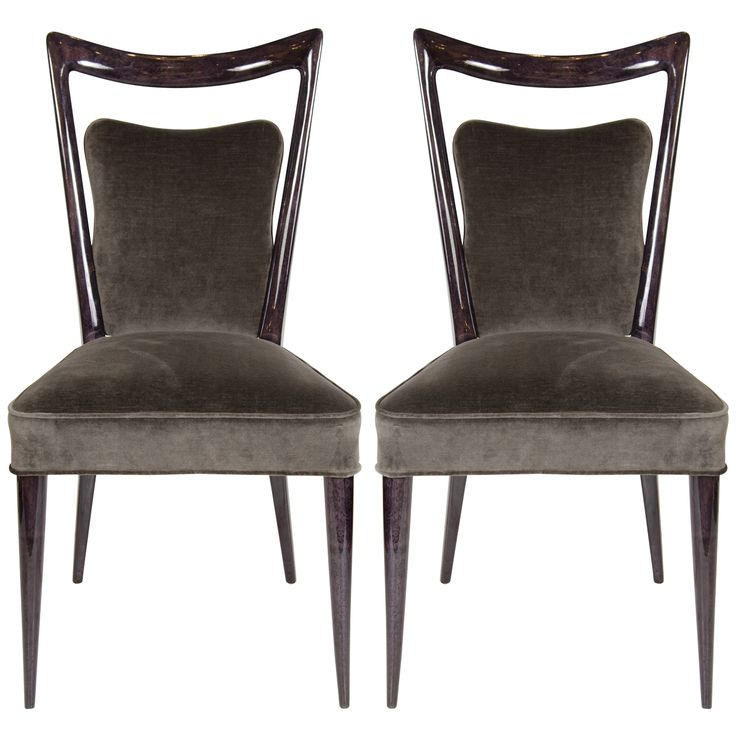1stdibs.com   Gorgeous Mid-Century luxe chairs