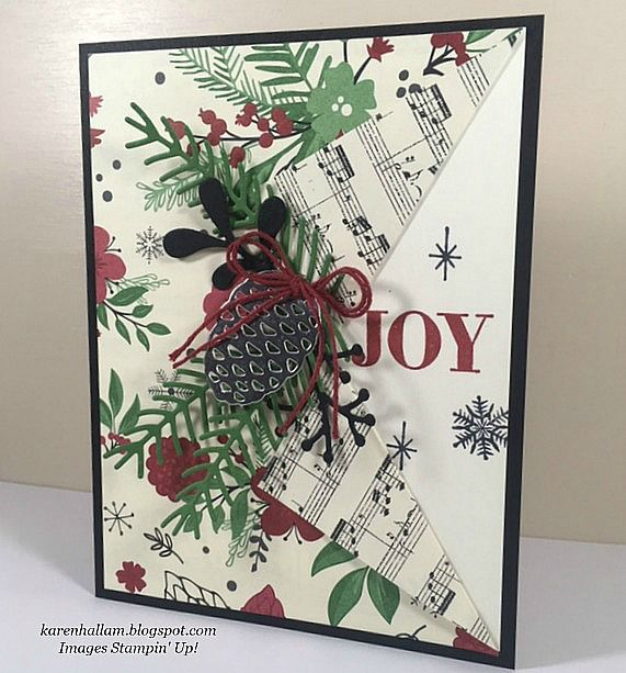 Do you love the prints and patterns on This Christmas Designer Series Paper as much as I do? This particular one with the pine bough...