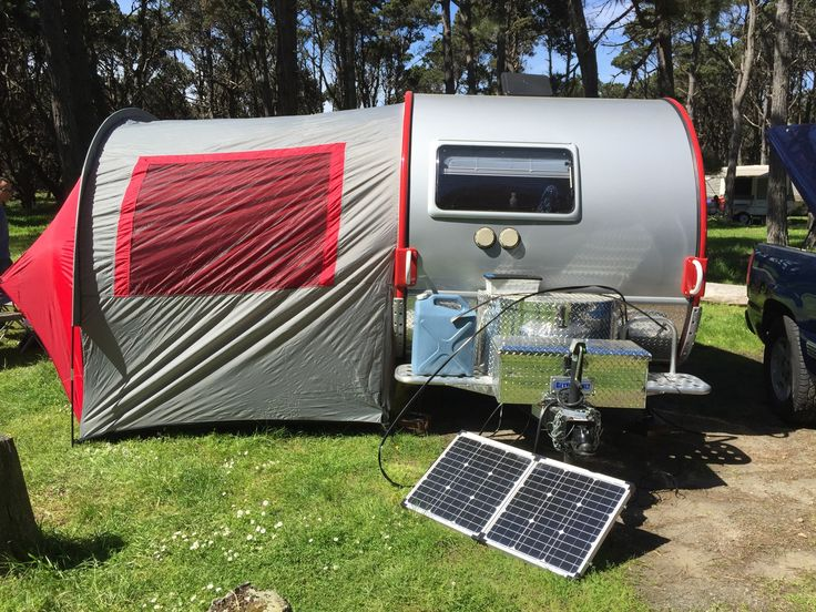 T B Outback Trailer Equipped With Zamp Solar Panel And
