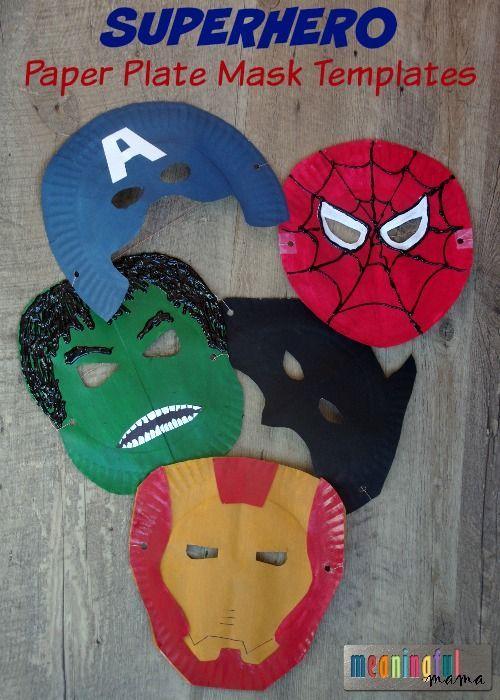 Superhero Paper Plate Kids Craft Mask ! With Free Template fun kids crafts, kid ideas, #kids #diy kids diy ideas