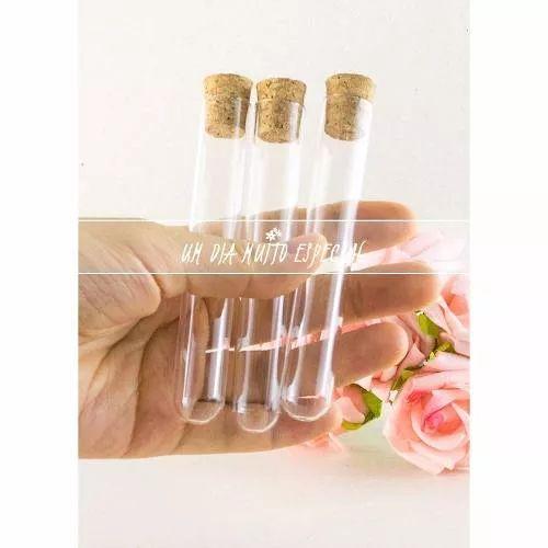 110 tubos de ensaio vidro 10cm com rolha lembrancinha festa
