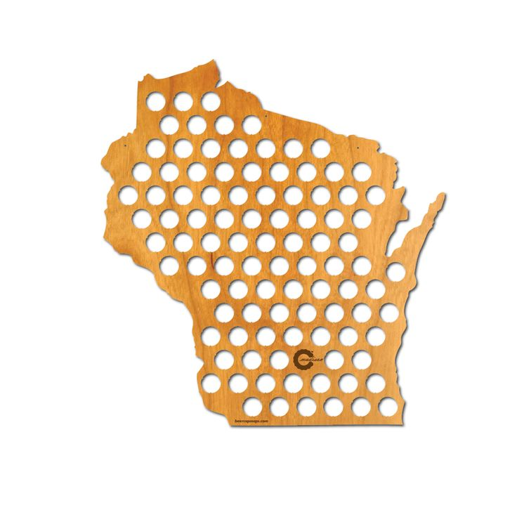 Beer Cap Map Of Wisconsin A State That Knows Its Beer