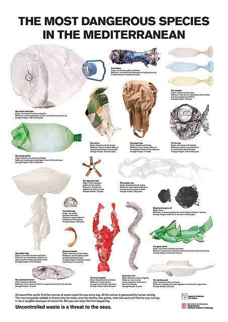 Ocean trash poster