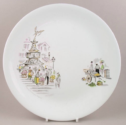 Mouse over image to zoom    Have one to sell? Sell it yourself  Alfred Meakin England plate London 1950s Picadilly Circus Eros fifties retro