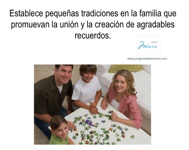 Rompecabezas, películas, juegos de mesa, cocinar... #tradicion #union #hijos #padres #familia #recuerdos #bienestar #salud #vida #preguntaleamonica