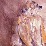 obra mixta sobre yute 100x80 cm