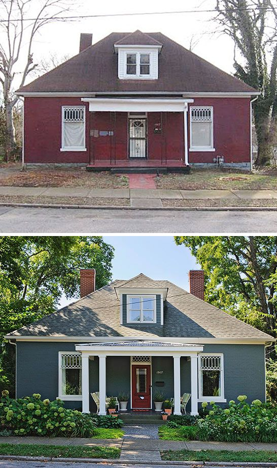 Small house exterior before and after before afters pinterest small house exteriors Before and after home exteriors remodels
