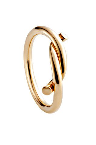 this ring ties the knot ||  Cartier gold ring, $1,100.