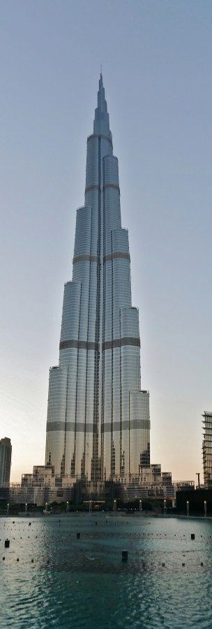 Panorámica Burj Khalifa Tower (Dubai), edificio más alto del mundo.