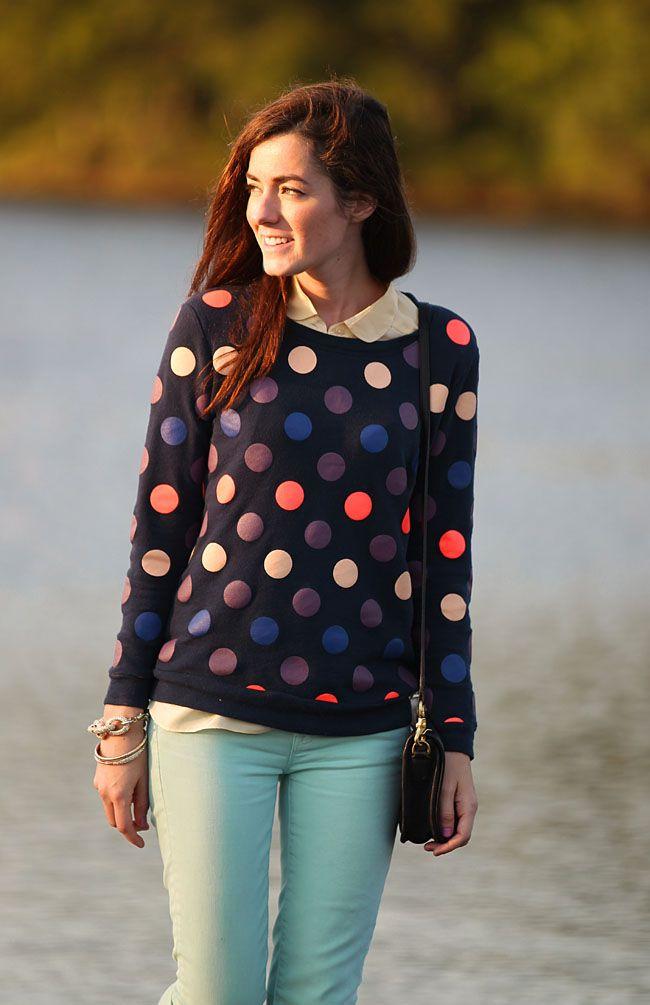 Classy Girls Wear Pearls: Girls Wear, Mint Green, Classy Girls, Dots Sweaters, Mint Skinny Jeans, Dots Outfits, Mint Jeans, Dots Jumpers, Dots Sweatshirts