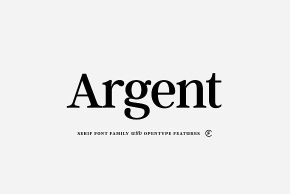 Argent CF: expressive serif font by Connary Fagen Type Design on @creativemarket