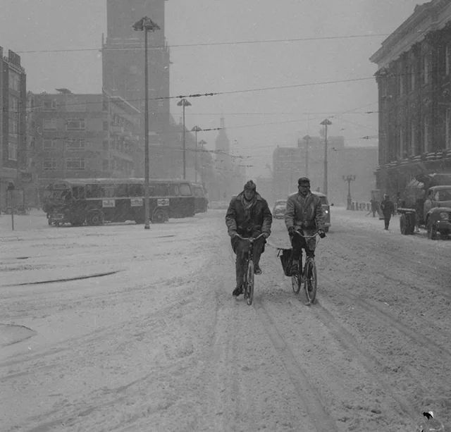 Grote Markt Groningen winter 1966                                                                                                                                                     More