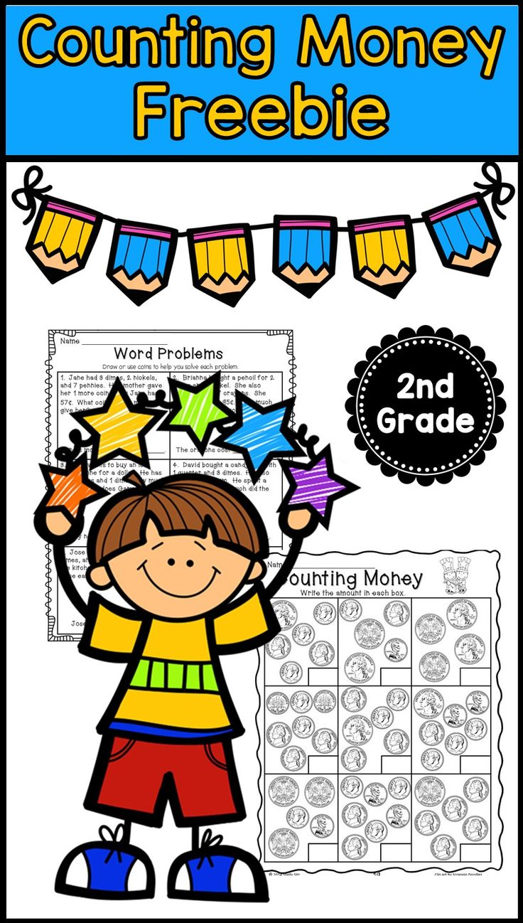 Free counting money and money word problems for second grade--click on PREVIEW for free sample pages
