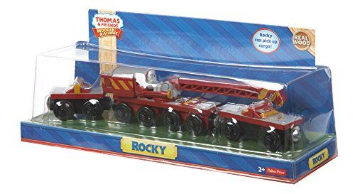 This set will give your children an exciting Thomas the train wooden railway adventures. It comes in 3 pieces. One is Rocky, a strong construction vehicle which also appeared in some episode of Thomas and Friends series and 2 train car vehicles.