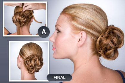 This website has a lot of really easy and fast up-do's.