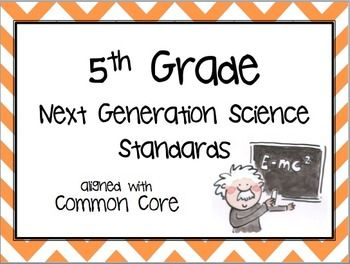 Great posters!  5th Grade Next Generation Science Standards (NGSS) aligned with COMMON CORE!  Woo-hoo!  And every standard comes with a PICTURE and a detailed explanation of how the picture teaches the standard!