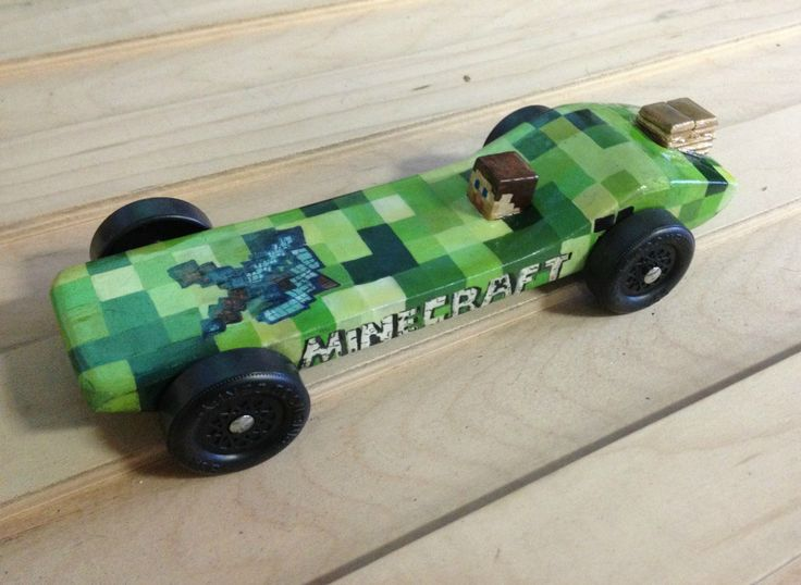 i see your stevie minecraft car and submit this one for your consideration pinewood derby