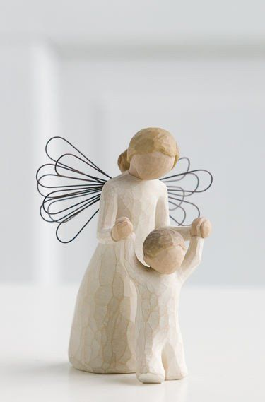 Guardian Angel - Willow Tree Figurine - The Shabby Shed  Sentiment: May you always have an Angel to watch over you