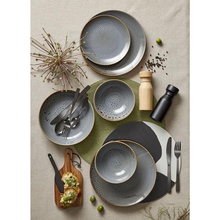Dark Grey Glazed Side Plate | Kmart