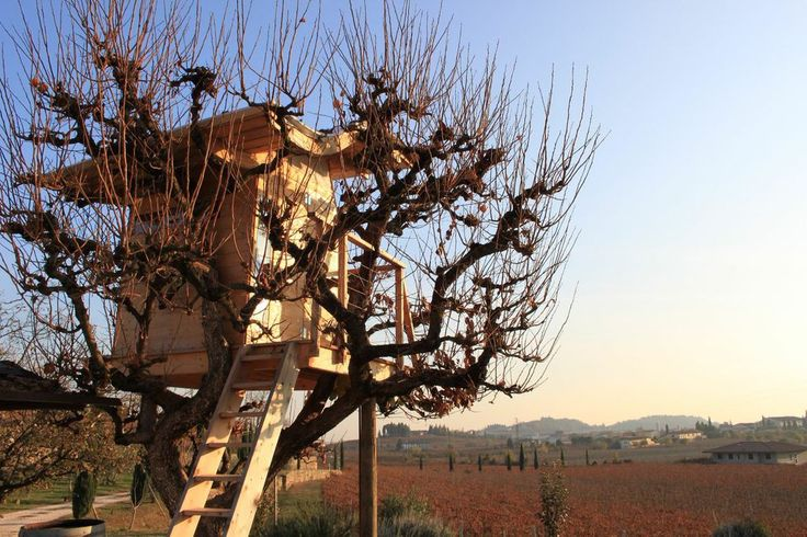 This simple italian #treehouse is perfect for kids when they need to escape the blazing mid day sun.