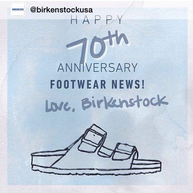 Bu yıl 70. yaşını kutlayan #Birkenstock bu yaz da Kasaba'da!  #Repost @birkenstockusa Congrats on 70 years @footwearnews!  #FN70 #birkenstock @birkenstockturkiye