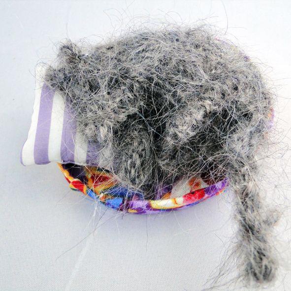Cute Knitted Cat - Fast Asleep - Knitted Grey Kitten, Paradis Terrestre - Luxury British Made Accessories & Homeware