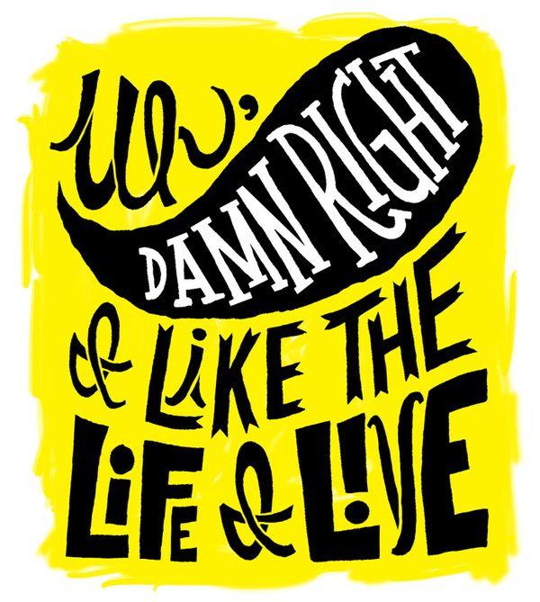 Notorious B.I.G., typography, design, illustration, lyrics, Jay Roeder