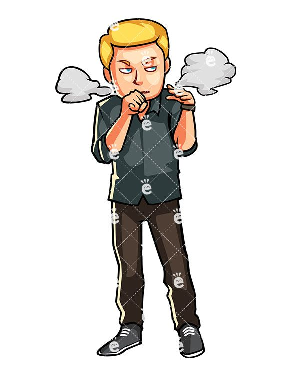 A Man Coughing With Puffs Of Smoke Near His Face: #addict #addiction #addictive #annoyed #bad #blond #cartoon #caucasian #character #clipart #cough #coughing #drawing #fatigued #frustrated #graphic #habit #habits #health #healthy #human #illustration #image #individual #issues #leisure #lifestyle #living #male #man #men #middle-aged #mouth #nicotine #passive #person #picture #puffs #risk #Robert #friendlystock #smell #smoke #smoker #smoking #stock #tobacco #toon #unhealthy #vector #white…