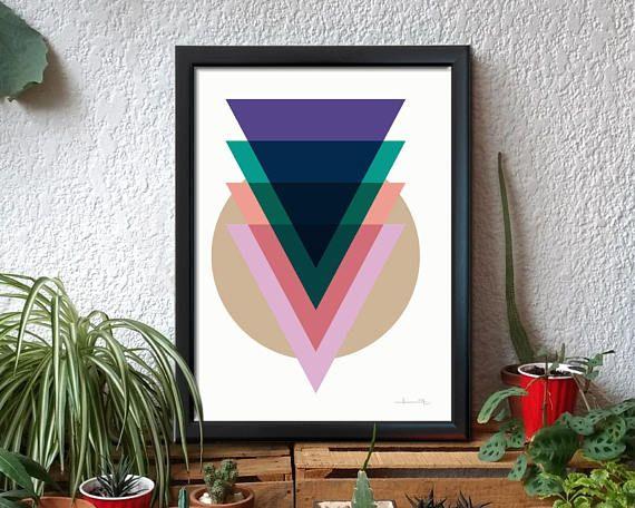 Geometría elemental, equilibrio gráfico y contraste del color. Un toque de elegancia que va bien en su estancia o habitación. Esta bella impresión se verá fabulosa con cualquier tipo de decoración.