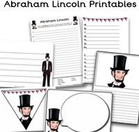 Abraham Lincoln Printables, great for the classroom to help celebrate Lincoln's Birthday.  There are Abraham Lincoln themed worksheets and activities plus much more.