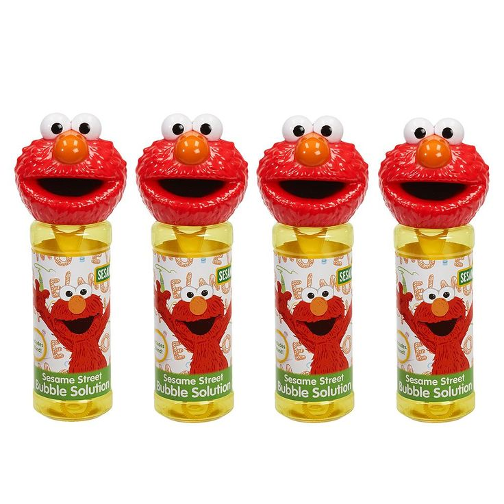 Sesame Street 4-pk. Elmo Bubble Heads Bubble Pack by Little Kids, Yellow