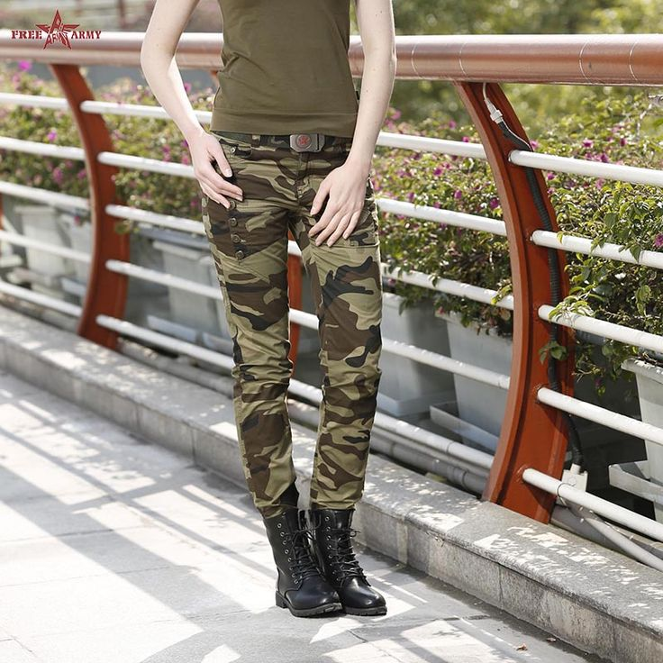 2016 Fashion Womens Camouflage Broek vrouwen Leger Cargo Potlood Pant Katoen Taille Sport Skinny Broek Voor Vrouwen GK-969 Z20(China (Mainland))
