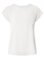 Womens Silver Zip Back T-Shirt- Silver
