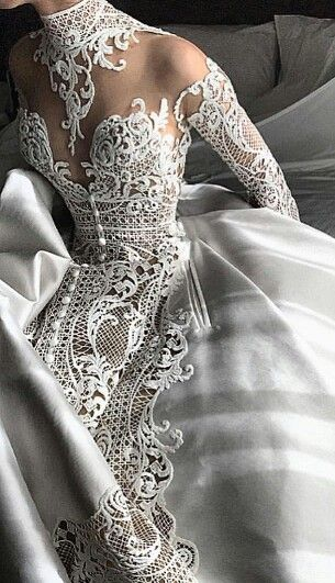 Stunning wedding gown - love the trim! #Art #Beauty #Gown #Fashion