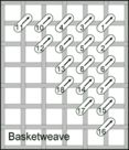 Needlepoint - Basketweave Stitch