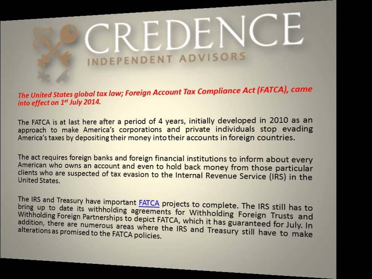 affordable credence independent advisors a look at fatca foreign account tax compliance act http. Black Bedroom Furniture Sets. Home Design Ideas