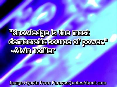 From Alvin Toffler - One of the authors most read by US billionaires.