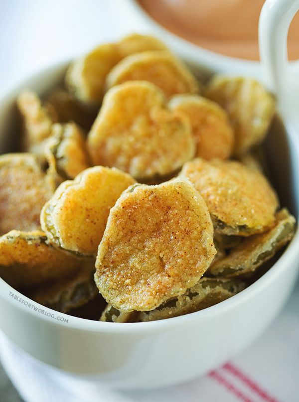 Fried Pickles » Table for TwoSuperbowl Snacks, Appetizers Snacks ...