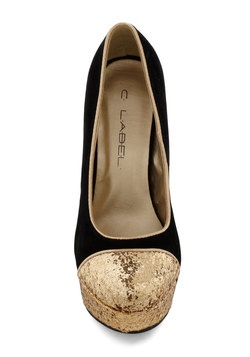 Gold Coast Heel in Black, #ModCloth